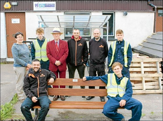 Construction Students Restore Dunoon Benches