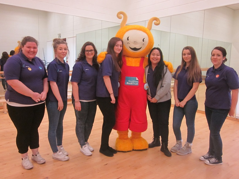 Childcare Students at Bookbug Event