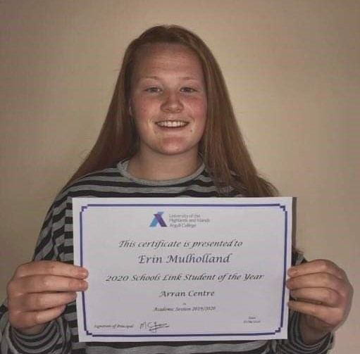 Arran Schools Link Student of the Year 2020