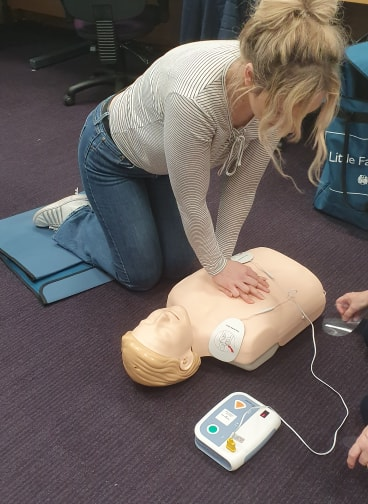 Nursing student gets local First Aid training